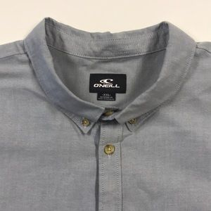 🆕 O'NEILL Mens Gray Button Up Pocket Shirt